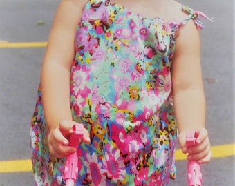 Two and hrree years old girls'  silk dress
