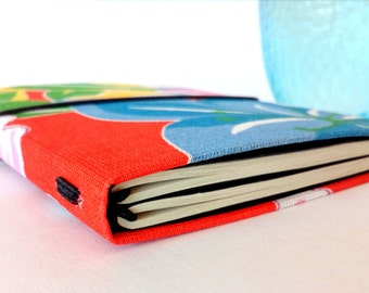 Traveler's Notebook A6 Red fabric midori fauxdori
