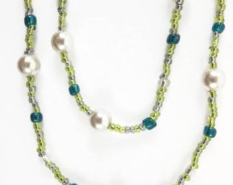 Layered Necklace / Multistrand Necklace / Seed Bead Necklace / Double Wrap Necklace / Boho Necklace / Delicate Necklace / Anniversary Gift