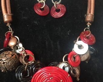 Custom one of a kind glass bead jewelry