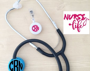 Student Nurse Graduation Gift - Nurse Gift Set - Nurse Stethoscope ID - Nurse Life Decal - RN Graduation Gift - Nurse Monogram Combo - Nurse