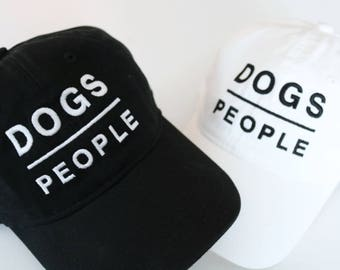 DOGS OVER PEOPLE hat | Dog Mom, Dog Dad, Dog Person, Dogs Rule, Dog Hat, Dog Parent, Dog Gifts, Dog Lovers