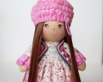 handmade doll, Tilda doll, hand made dolls, Doll rag, doll cloth, doll collection, gift, for her, Textile doll, Spring doll, doll handmade