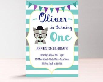 Baby Boy Birthday Invitation Instant Download, First Birthday Invitation Digital, 2nd Birthday Invite, Printable 1st Birthday Invitation Boy