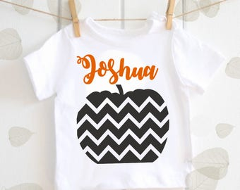 Pumpkin Halloween personalised baby t-shirt - October baby, baby shower gift, Halloween top, Halloween baby gift, Autumn baby Fall baby gift