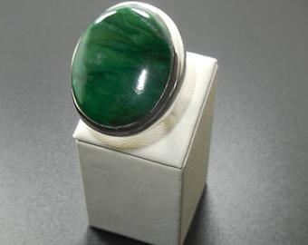 Natural Jade  925 Silver Pendant