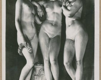 Three Graces | Versailles | Nude Goddesses | French Sculpture Postcard | Charites | Virtues | Mythology | Neoclassical | Beaux-Arts |