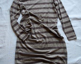 Stripy merino wool dress, size M