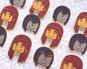 STARFIRE Ditto x Magical Girl Enamel Pin [Teen Titans Classic Go Marvel Comic Cartoon Animation]