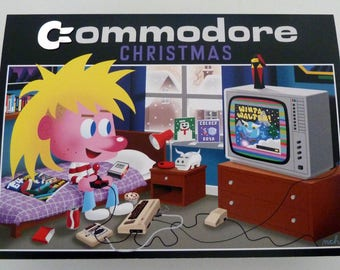 COMMODORE CHRISTMAS Christmas card - Commodore 64 VIC 20 fan art