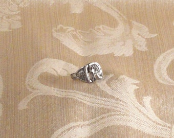 Vintage Maisel's Sterling Silver Good Luck Horse Head Child's Ring c1950s