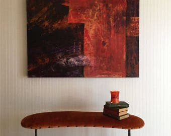 Original Extra Large Contemporary Abstract Painting with Extra Deep Profile by Linda Haywood