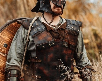 Viking Leather Armour | medieval armor | leather armor | viking armor | larp armour | leather armor men | viking costume | torso armour
