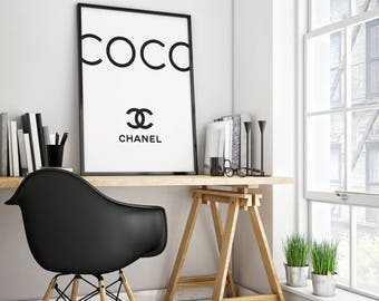 Chanel poster,Chanel print,Chanel wall art,Coco Chanel print,fashion art,make up,Chanel printable,Chanel black white,Chanel art,Chanel decor