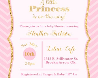 A little princess is on the way! Baby Shower Invitation