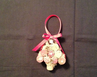 Wine Cork Christmas Tree Ornament or Wall Decor