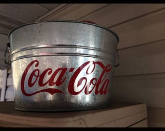 Coca Cola washing tub pan galvanized party soda ice cooler
