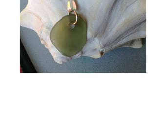 Sm. Green seaglass Necklace