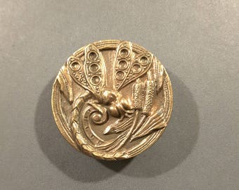Dragonfly button bronze early 1900's.