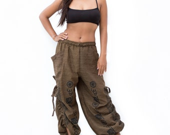 Harem Pants men women, Boho Pants, Yoga Pants, Casual Pants, Buddhist Om Pants, Baggy Pants, men, women