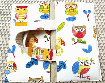 bag OWL gift cheerful colorful picnic pie door