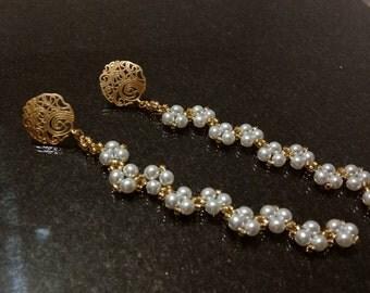 Pearl Wave Earrings