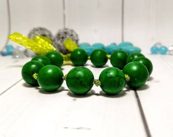 Malachite jewelry Gemstone bracelet Green bracelet Genuine gemstone Beaded jewelry Bracelet ribbon Green chakra Meditation bracelet Yoga