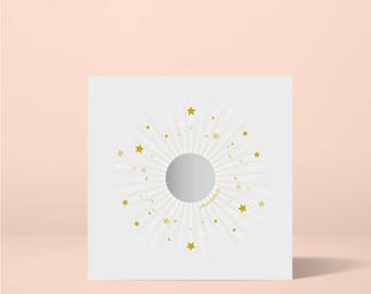 Star Secret Message Greeting Card, Unique Baby Announcement Card, Fun Bridesmaid Proposal Card
