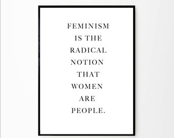 Feminist Quote | Feminist Print | Feminist Poster | Feminist Art | Girl Power Art | Girl Power Quote | Girl Power Print | Nordic Minimalist