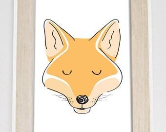 Mr fox - Wooldand Creatures Range - Nursery Print - Shordy's - Children's Wall Art - Nursery decor