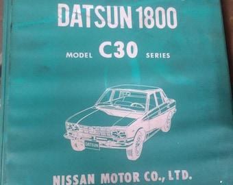 Nissan Parts Catalog Datsun 1800 Model C30 Series