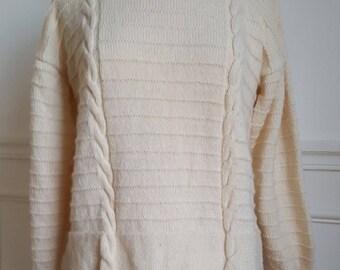 Wool Sweater handmade 70's