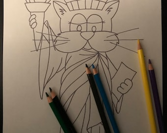 Kitty Krayonz Statue of Liberkitty Colouring Page