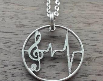 Coin jewelry, Quarter dollar USA-music