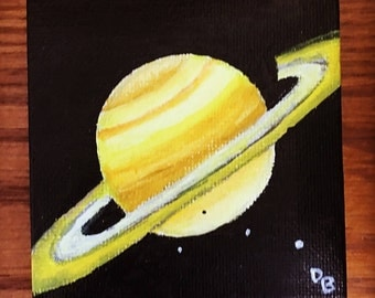 Saturn Acrylic Painting