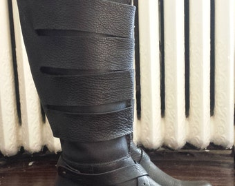 Black leather boots, size 9.5  (excellent used condition) Everybody by B.Z Moda