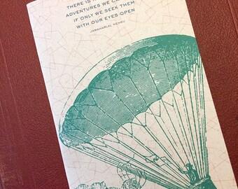 Adventure Large Sketchbook, traveler gift, wanderlust, travel journal, teacher gifts, stocking stuffer, wanderlust gift, travel sketchbook