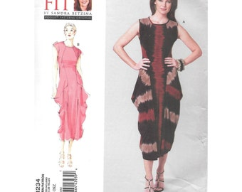 Misses Dress Sewing Pattern OSZ Today's Fit Sandra Betzina Vogue V1234 Small to Plus Size