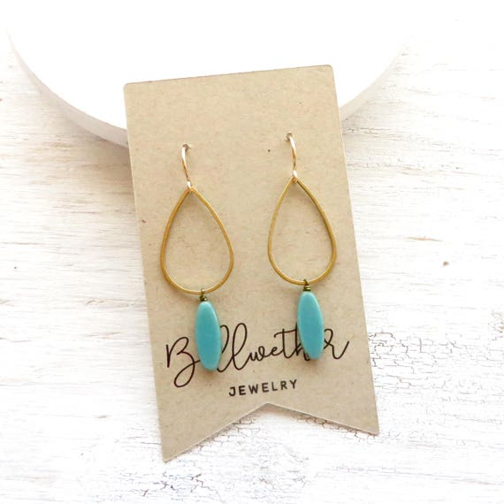 Bridesmaid Earrings > Balance Earrings > Turquoise
