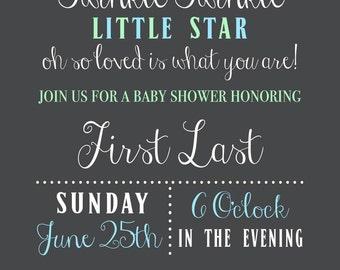 Twinkle Twinkle Baby Shower Invitation (Printable)