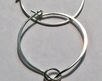 FREE SHIPPING for my NEW Knotted Silver Hoop Earrings