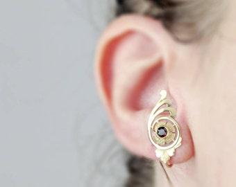 Antique Edwardian Earrings | Antique 10k Gold Earrings |  Antique Garnet Earrings | Antique Earrings