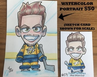 """Custom 4""""x6"""" Watercolor painting - ANY character/person of your choice!"""