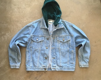 CHARLIE - denim jacket with detachable hood