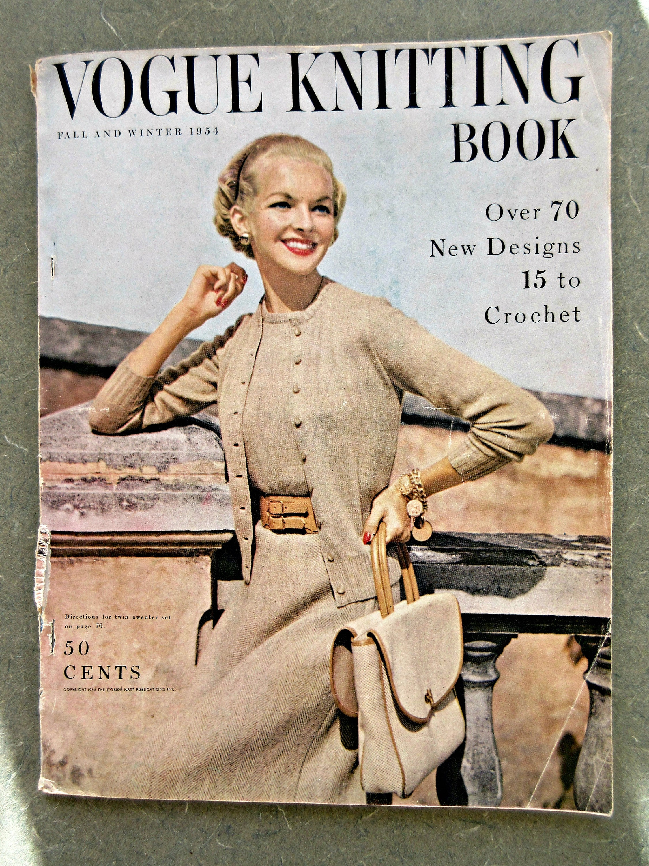 Vintage vogue knitting book 1954 vogue knitting magazine vintage vintage vogue knitting book 1954 vogue knitting magazine vintage knitting pattern vintage magazine 1950s vogue knit instructions bankloansurffo Choice Image