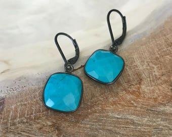 Turquoise Earrings, Silver TurquoiseEarrings, Silver Turquoise Drop Earrings, Turquoise Drop Earrings, Silver Turquoise Drop, Turquoise