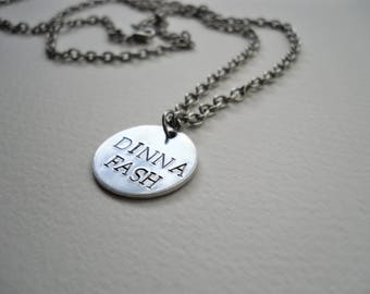 Dinna Fash -  Outlander Inspired Hand Stamped Necklace