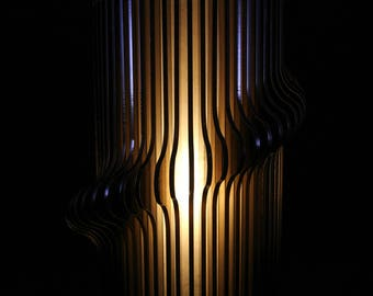 Twisted Acrylic Lamp