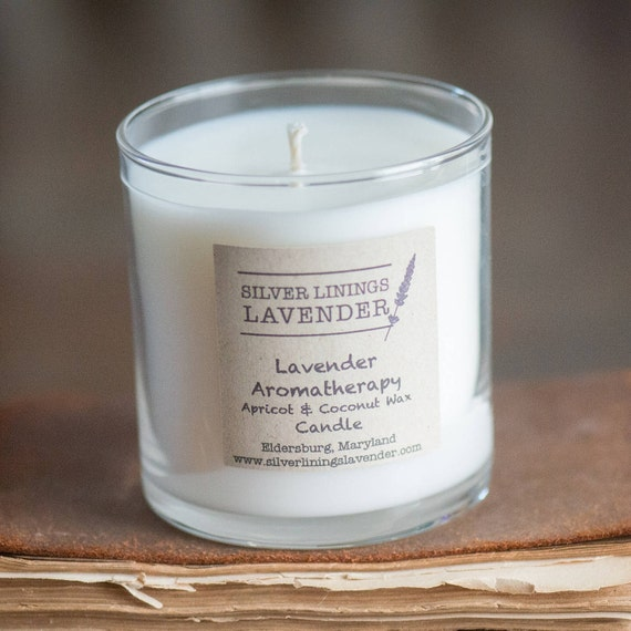 Lavender Essential Oil Aromatherapy NaturalWax Candle / Lavender Aromatherapy Candle/ Lavender Essential Oil Candle / Clean Burning Candle