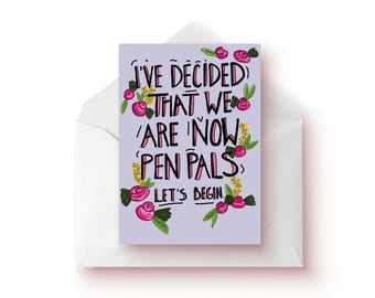 Pen Pals / Friendship Card / Best Friend Gift / Keep In Touch / Thinking Of You Gift / Cards / Friendship / Gift For Her
